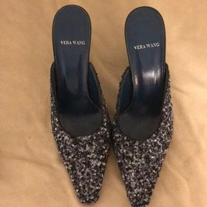 Vera wang size 9 1/2 sequined mules.
